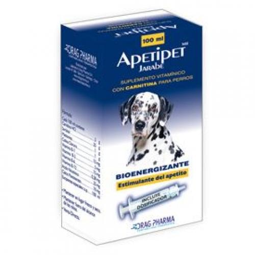 Apetipet Jarabe 100 Ml Suplemento Vitamínico Con Carnitina para Perros.