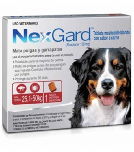 Nexgard 25 a 50 Kg
